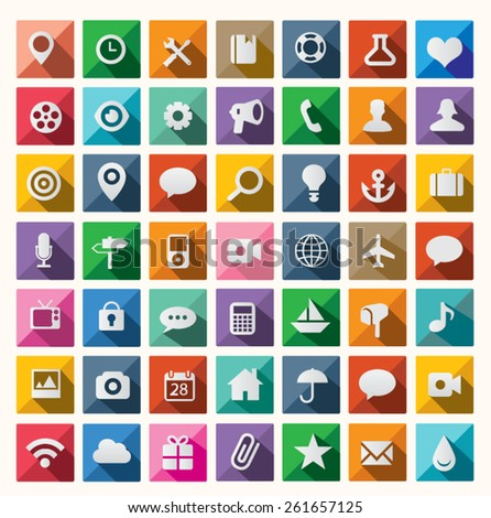 Modern flat icon design - stock vector