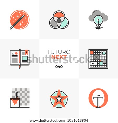 Modern Flat Icons Set Design Thinking Stock Vector HD (Royalty Free ...