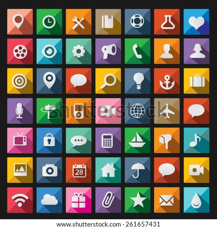 Modern flat icons vector collection - stock vector