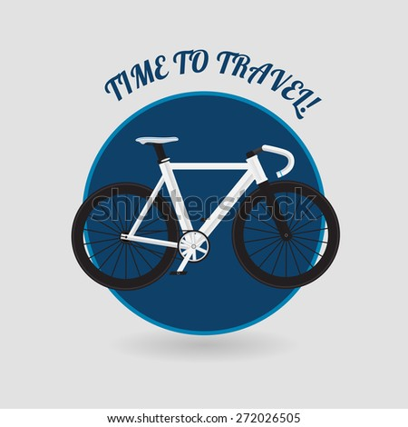 Modern flat style road bicycle vector template - stock vector