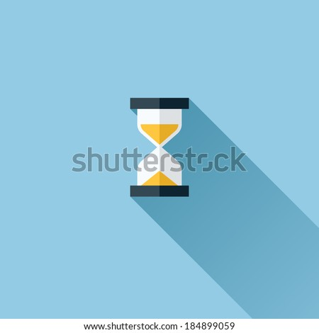 Modern flat vector icon of hourglasses - stock vector