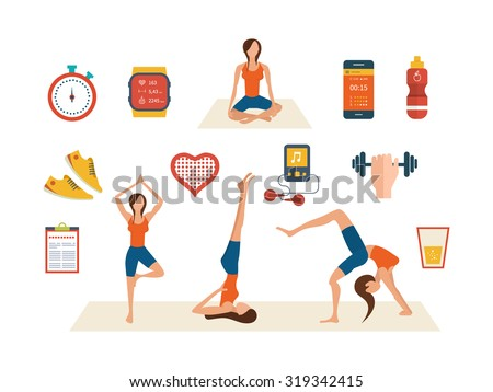 Aerobic Exercise Class Stock Illustrations & Cartoons ...