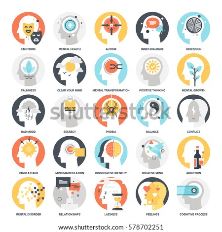Psychology stock images royalty free images vectors shutterstock modern flat vector illustration of human psychology icon design concept icon for mobile and web thecheapjerseys Image collections