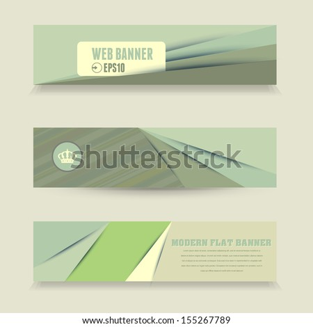 Modern Flat Web Banners Vector Collection - stock vector