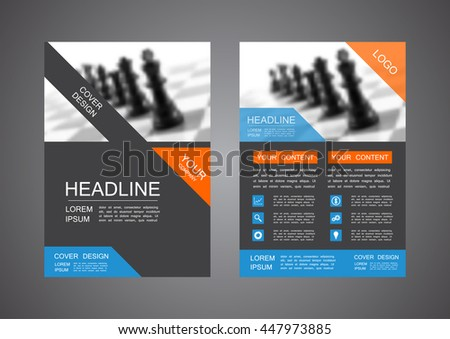 modern flyer, business concept, A4 size - stock vector