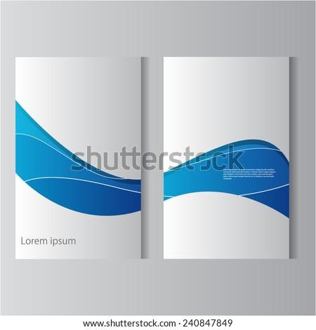 Modern flyer template, eps10 Vector. - stock vector