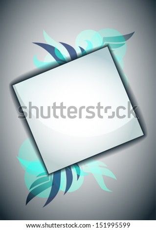 Modern Frame for your text - stock vector