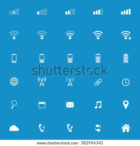 Modern gadget web icon set . Vector illustration