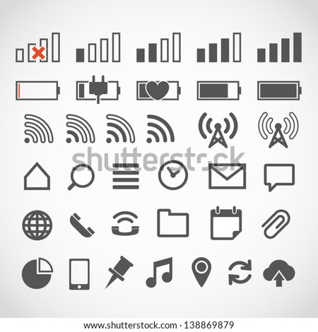 Modern gadget web icons collection - stock vector