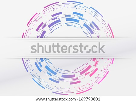 Modern geometrical abstraction with colorful background. Vector illustration - stock vector