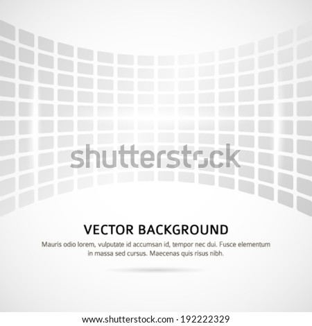 Modern geometrical grey background of bright glowing perspective with squares. Gorgeous graphic image template. Abstract vector Illustration eps 10 for your business brochure - stock vector