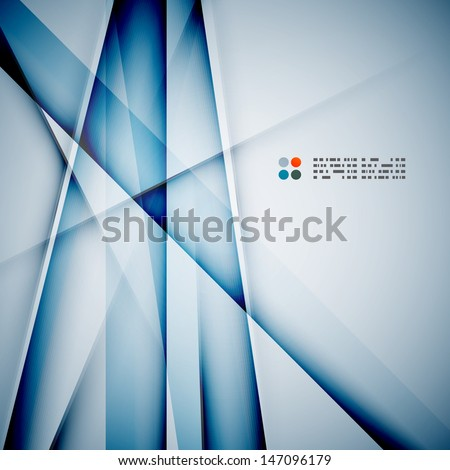 Modern glass straight lines - stock vector