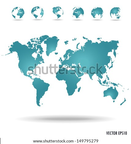 Modern globe. Vector illustration. - stock vector