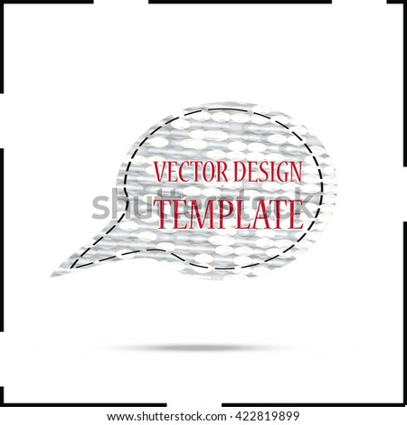 Modern Glossy Bubble Speech.Vector Illustration. Abstract Chatting Icon.