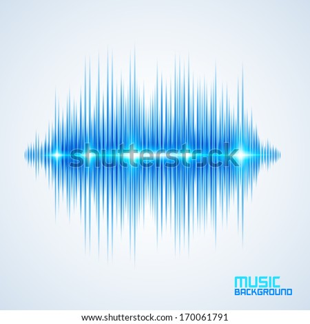 Modern glowing equalizer. Background for music themes - stock vector
