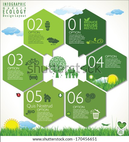 Modern green ecology Design Layout - stock vector