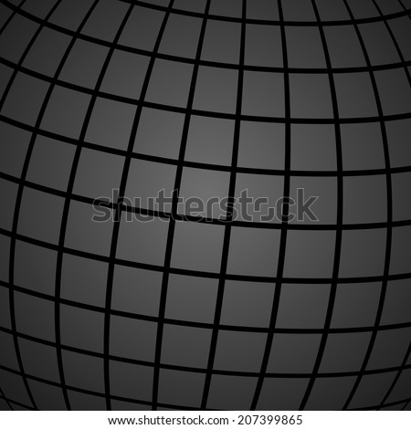 Modern grey-black background/wallpaper with a wire frame planet sphere. Vector illustration, eps 10.