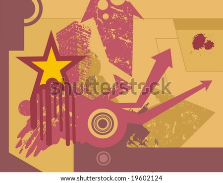 Modern grunge design, vector illustration.