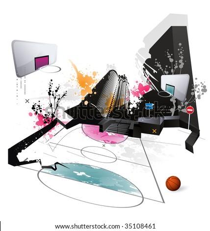 Modern grunge urban graphic design - stock vector