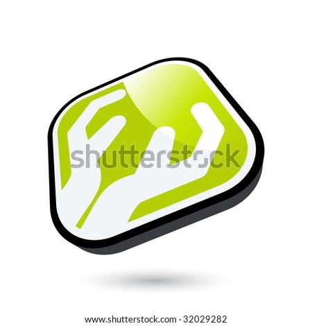 modern hand sign - stock vector