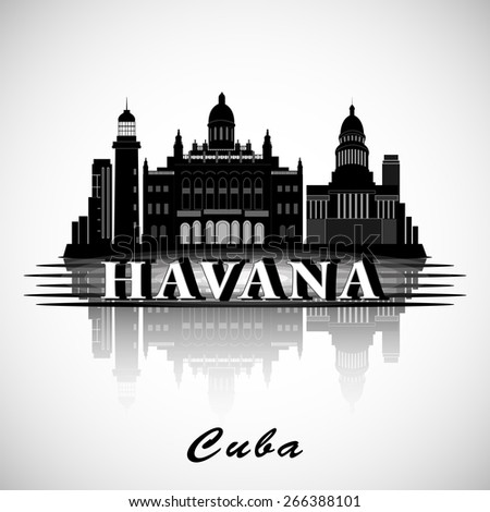Modern Havana City Skyline Design. Cuba