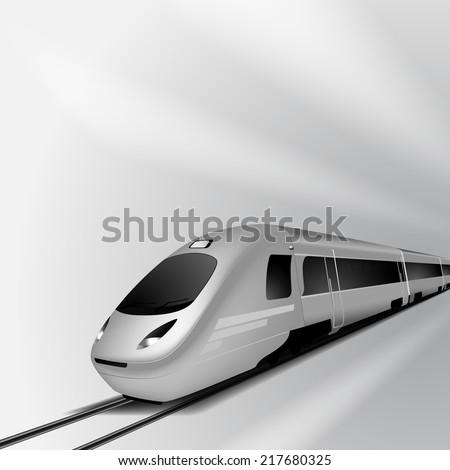 Modern high speed train 1. EPS10 vector. - stock vector