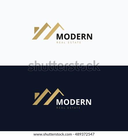 Modern Home Logo Real Estate Logo Stock Vector 489372547