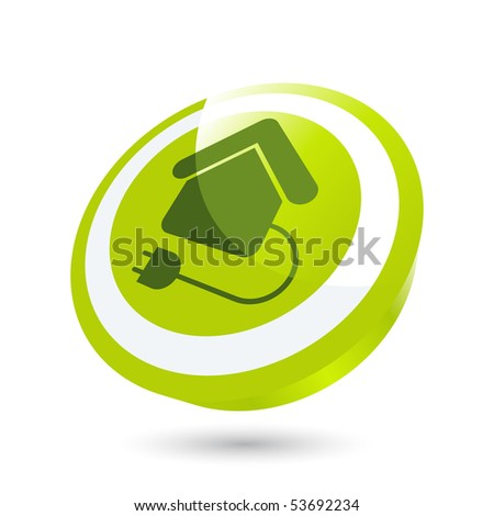 modern home power sign - stock vector