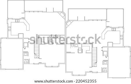 modern house building background - stock vector