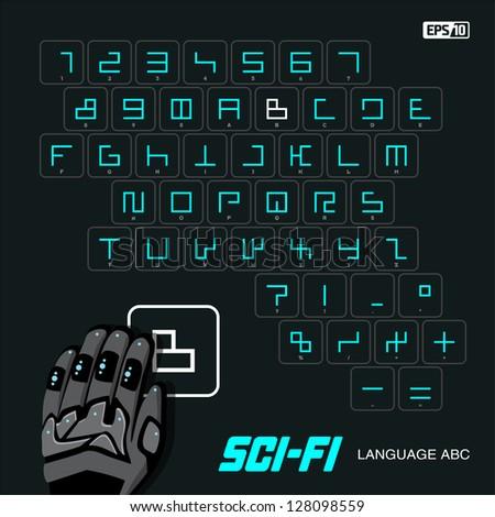 Modern human digital spellings - stock vector