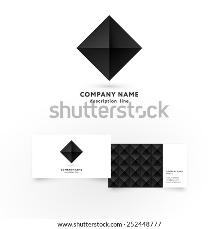 Modern icon design diamond shape element stock vector 2018 modern icon design diamond shape element with business card template best for identity and logotypes colourmoves