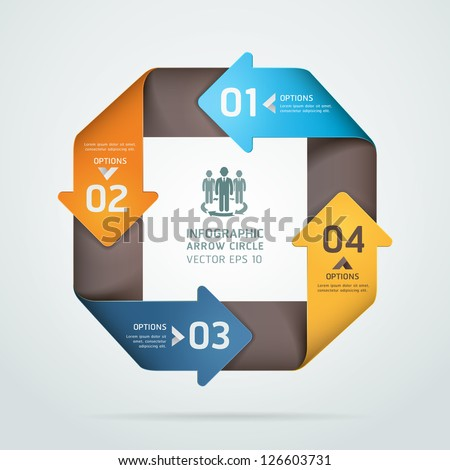 Modern infinite square origami style number options banner. Vector illustration. can be used for workflow layout, diagram, step options, web design, infographics. - stock vector