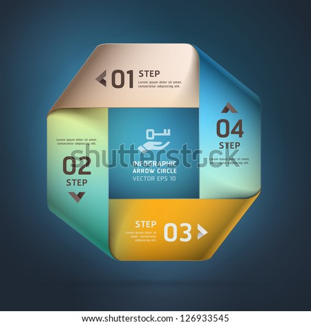 Modern infinite square origami style options banner. Vector illustration. can be used for workflow layout, diagram, step options, web design, number options, infographics. - stock vector