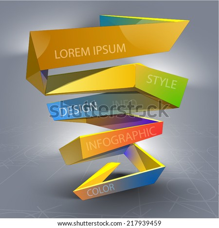Modern info-graphic - stock vector