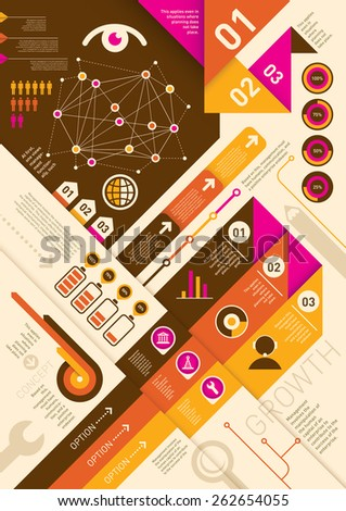 Modern info graphic background. Vector illustration. - stock vector
