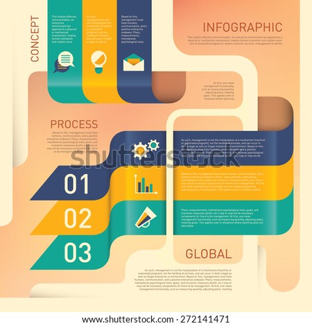Modern info graphic with design elements. Vector illustration. - stock vector