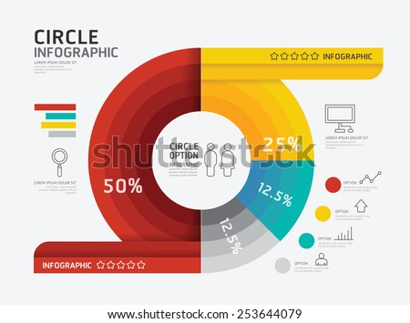 Modern infographic banner circle geometric with line icons design template. vector illustration / can be used for infographics / number banner / number options /concept graphic or web design layout.