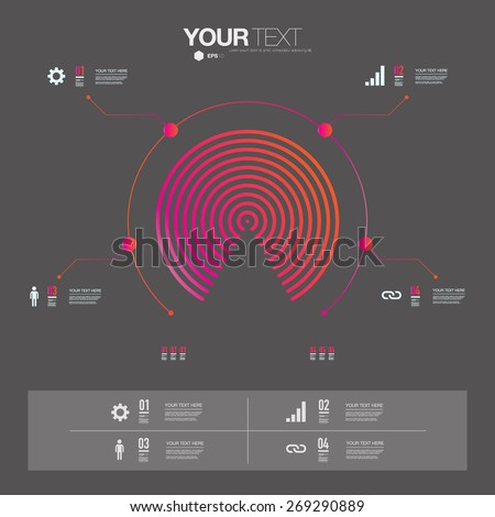 Modern infographic design can be used for workflow layout, chart, number options, presentation, web design. Eps 10 stock vector illustration  - stock vector