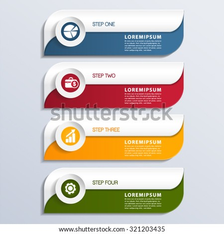 Modern Infographic design element banner. - stock vector