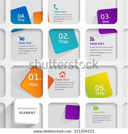 Modern Infographic design element banner. - stock vector