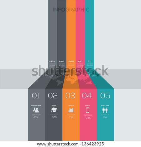 Modern Infographic Design template - stock vector