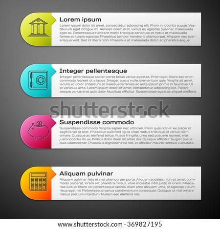Modern Infographic design template - stock vector