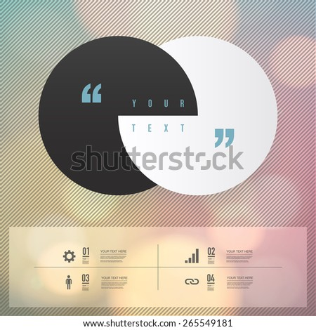 Modern infographic design with beautiful colorful bokeh background can be used for workflow layout, chart, number options, presentation, web design. Eps 10 stock vector illustration  - stock vector