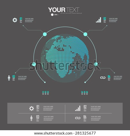 Modern infographic design 3 d world map stock vector 2018 modern infographic design with 3d world map can be used for workflow layout chart gumiabroncs Choice Image