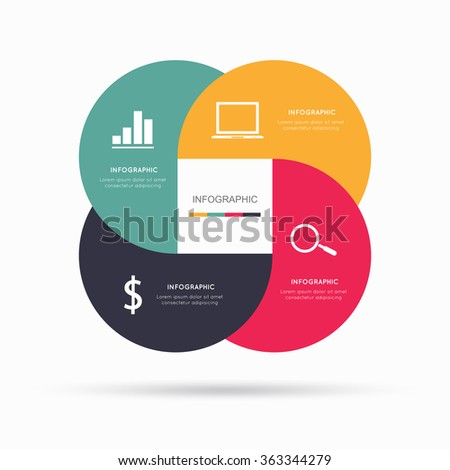 Modern infographic for business project  - stock vector