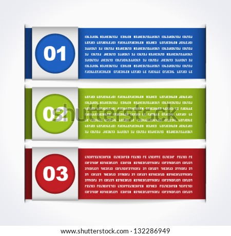 Modern infographic template - stock vector