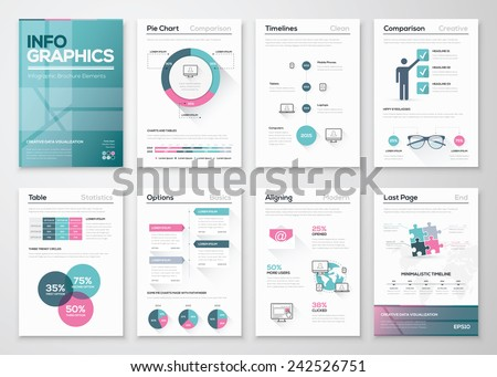 Modern infographic vector concept. Business graphics brochures. Used for workflow layout, diagram, number options, step up options, web template, infographics, websites, brochures, flyers and prints. - stock vector
