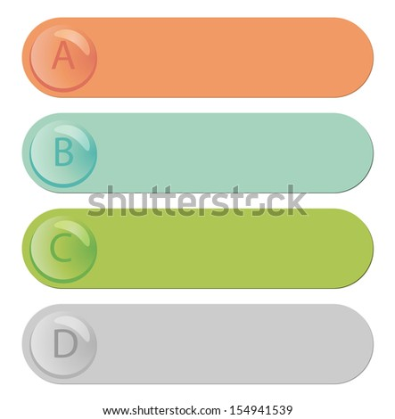 Modern infographic with colored labels - stock vector