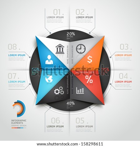 Modern infographics business triangle origami style. Vector illustration. can be used for workflow layout, diagram, banner, number options, step up options, web design. - stock vector
