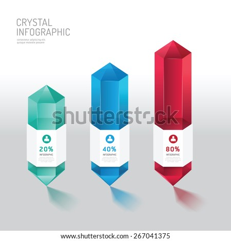 Modern infographics design crystal options banner. Vector illustration. can be used for workflow layout, diagram, number options, graphic or website layout vector - stock vector